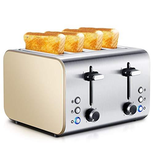 Z-Color Inicio Tostadora automática Blanco 4 Pieza Hogar multifunción Acero Inoxidable 7 Modo Control de Browning Máquina de Desayuno Herramientas de Cocina