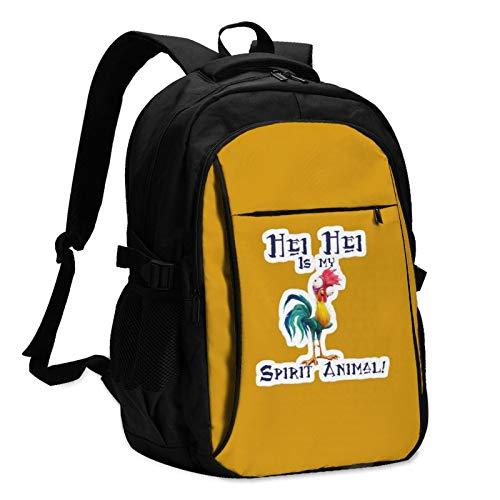 HEI HEI is My Spirit Animal Mens Women's Resistant Women & Men Backpack with USB Charging Interface Daypacks