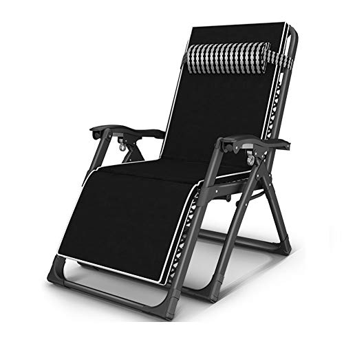 BFORS Al Aire Libre de la Gravedad Cero sillas de Sol Patio Tumbona reclinable de Playa Jardín Camping Plegable Silla de salón de Apoyo 200Kg (Color: Plata Haig, con Crystal Pad)