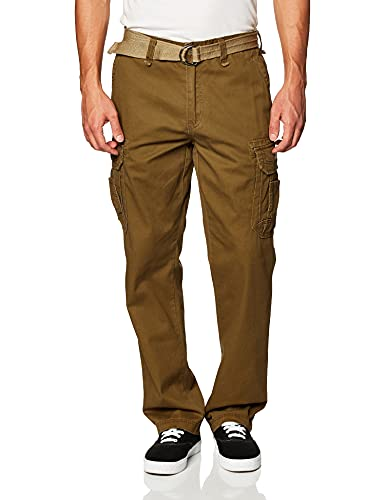Unionbay Men's Survivor Iv Relaxed Fit Cargo Pant - Reg and Big and Tall Sizes, golden brown, 32x32