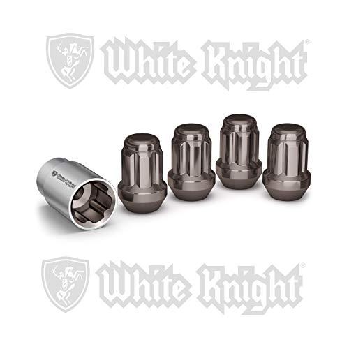White Knight 40400SGNT Bloqueo para neumáticos, Perla Negro, Perla Negra, 12mm x 1.50 Thread
