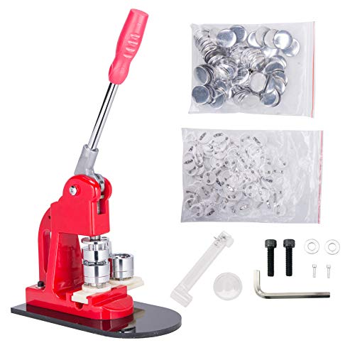 Pinty 1 inch 25mm Button Badge Maker Machine + 1,000 Badges + Circle Cutter + Extra 100 Buttons