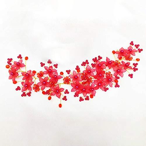 weichuang Accesorios para el pelo de novia, hechos a mano, perlas de...
