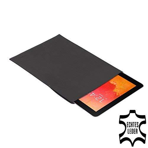 PEDEA Echtleder Tasche/Hülle für Samsung Galaxy Note Pro 12.2, Odys Winpad 12, anthrazit