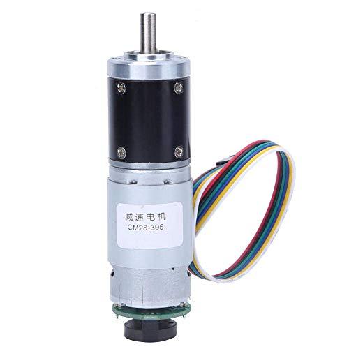 BINGFANG-W Codificador del motor de engranajes, 12V DC 330RPM metal Motorreductor Motor de reducción de velocidad con encoder, aplicable a electrodomésticos inteligentes Herramientas