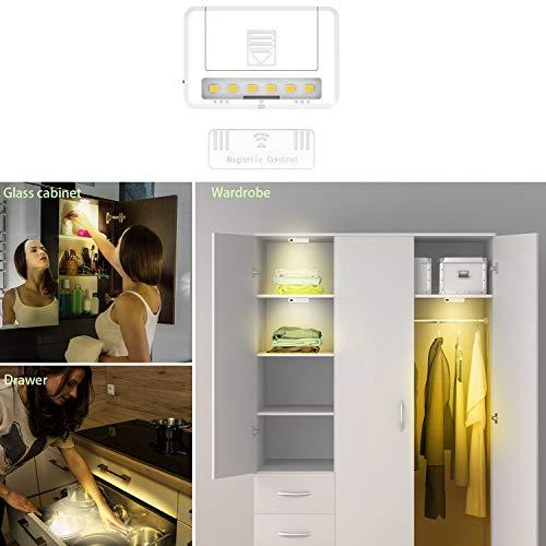 Lampe Magnetisch Led, Sensorlicht Kleiderschrank, Lampe Magnetisch Batterie, Magnetische Lichter, Sensorlicht Batterie, Magnetische Lampe Led, Sensorlicht Magnetisch