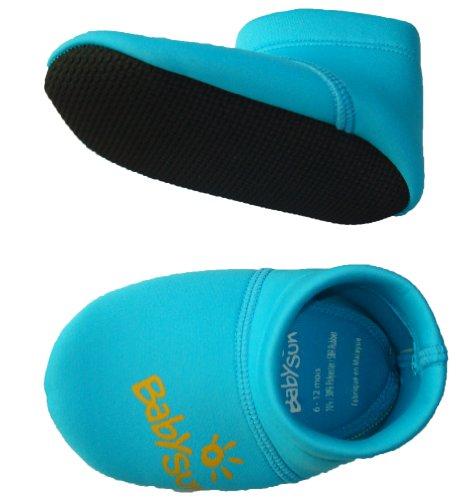 Babysun Linge de Toilette Chaussons Anti glisse Bleu