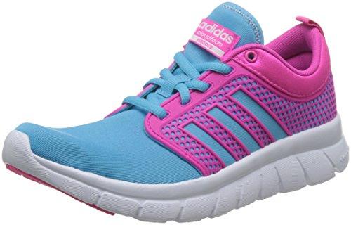 adidas Neo Cloudfoam Groove Damen Lauftrainer/Schuhe-Blue-36