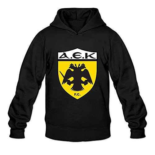 Man Aek Athens Logo Render Custom 100% Cotton Size XXL Color Black Sweatshirts By Mjensen
