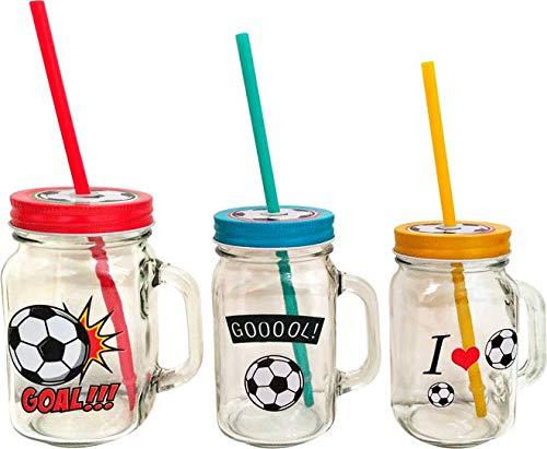 DISOK - Jarra FÚTBOL. Originales jarras con Formato fútbol para entregar como Detalle de comuniones, bautizos, Fiestas, Eventos, cumpleaños.