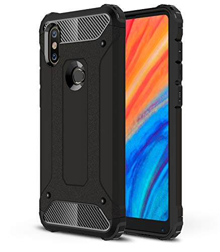 Taiaiping Armor Series for Xiaomi Mix 2s, Full Body Defender Phone Case Cover Xiaomi Mix 2s (Black)