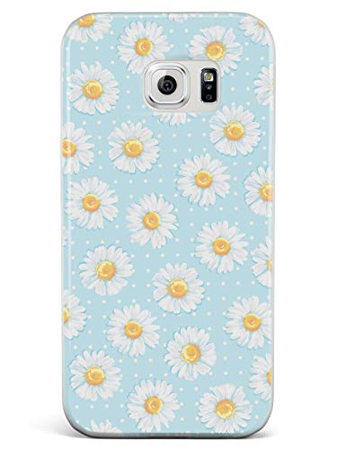 Inspired Cases - 3D Textured Galaxy S7 Case - Rubber Bumper Cover - Protective Phone Case for Samsung Galaxy S7 - Watercolor Daisy Pattern - White