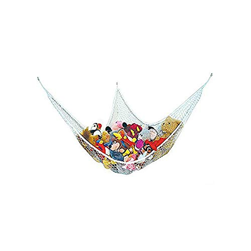 Aofocy LARGE HAMMOCK FOR SOFT TOY TEDDY KEEP BABY/CHILDRENS BEDROOM TIDY - MESH STORAGE IDEAL FOR NURSERY PLAY - CAN BE USED AS A CORNER HAMMOCK