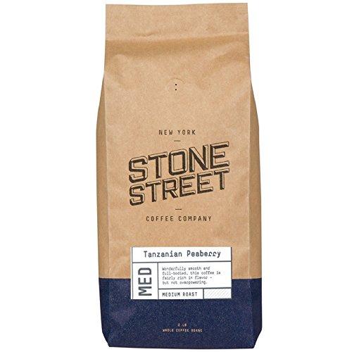 TANZANIA PEABERRY 'Mount Kilimanjaro' Whole Bean Coffee   Medium Roast   2 LB Bag   Single Origin