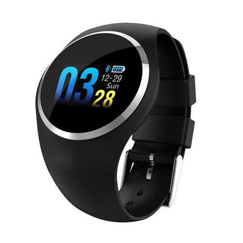 Q1 Bluetooth Lady Smart Horloge Mode Women Hartslagmeter Fitness Tracker Smartwatch App-Ondersteuning Voor Android IOS Smart Band,Black