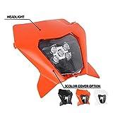 Faro LED para motocicleta, faro delantero para K.T.M. EXC EXCF SX SXF XC XCF XCW XCFW 125 150 250 300 350 400 450 505 530 (naranja)