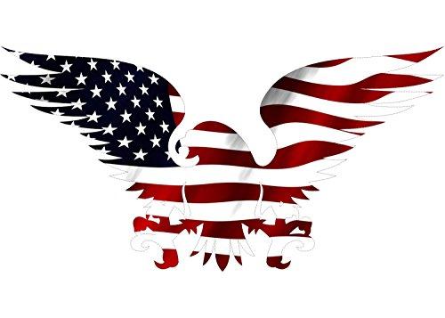 불량 강술 큰 10X6 아메리칸 이글 아메리칸 커넥션의 미래 자동차 전사술 창 절단 죽습니다 애국 자동차 범퍼 스티커를 비닐 자동차 트럭 SUV&RV 보트 지원을 우리에게 군사