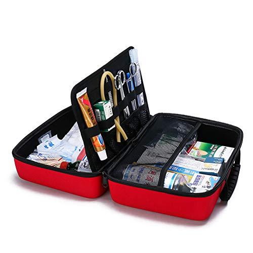 Botiquín de primeros auxilios de tela Oxford impermeable Caja de botiquín de primeros auxilios portátil Embalaje de medicamentos de alta capacidad para el hogar, lugar de trabajo, automóvil, viajes,