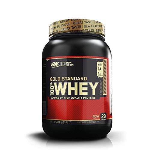 Optimum Nutrition ON Gold Standard Whey Protein Pulver, Eiweißpulver Muskelaufbau mit Glutamin und Aminosäuren, natürlich enthaltene BCAA, Chocolate Hazelnut, 28 Portionen, 900g