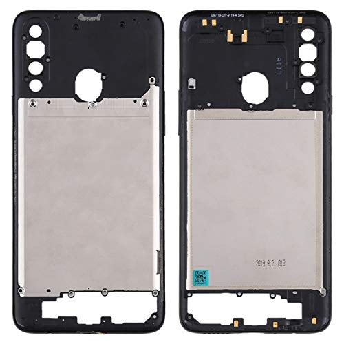 BEIJING  SCREENCOVER+ / Placa de Bisel de Marco Medio para Samsung Galaxy A20s, Reemplazo LCD Placa Placa ATRÁS BIELEL (Color : Negro)