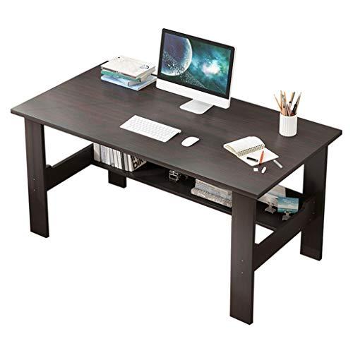 PLENTOP Home Office Desk 39.7 inch - Modern Desktop Computer Desk Gaming PC Laptop Desk Work Table, Easy to Assemble,Study Writing Desk (Black)
