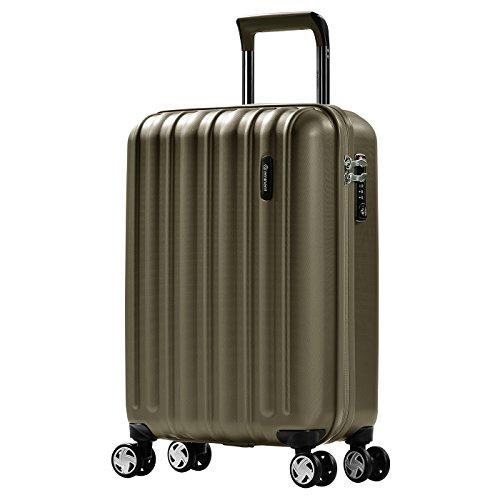 Eminent koffer Glam II krasbestendig oppervlak 4 stille dubbele wielen TSA slot