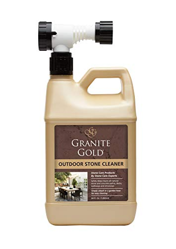 Granite Gold Outdoor Stone Cleaner - Deep Cleans Stone And Concrete Patios, Decks, Driveways - 64 Ounces