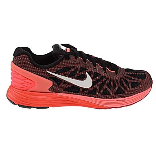 Nike Men's Lunarglide 6 Black/White-Bright Crimson-Hot Lava Ankle-High Mesh Cross Trainer Shoe - 10M