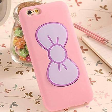 FidgetGear Accesorios Caja Moño de Mariposas de Goma para for iPhone 5 5S 6S 6 7