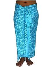 ca.100 modellen in de winkel Sarong strandlaken Pareo wikkelrok lichtblauw blauw Sar02