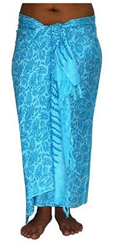 ca.100 Modelle im Shop Sarong Strandtuch Pareo Wickelrock hellblau blau Sar02