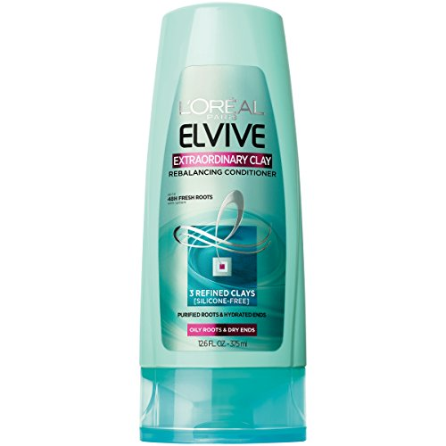 L'Oreal Paris Elvive Extraordinary Clay Rebalancing Conditioner, 12.6 fl. oz. (Packaging May Vary)