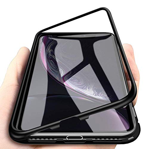 Funda Magnética para Huawei P10, Fuerte Tecnología de Adsorción Magnética Metal Bumper, Cubierta Trasera de Transparente Vidrio Templado Ultra Delgado Case Cover para Huawei P10