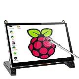 [Aktualisierte Version] 7 Zoll Kapazitiver Touchscreen Portable Monitor UPERFECT 1024 x 600 HDMI Port Eingebaute Lautsprecher Display für Raspberry Pi A B A + B + 2B 3B 3B +/Raspbian/Kali/Ubuntu Mate