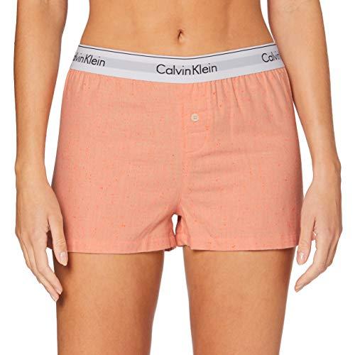 Calvin Klein Damen Sleep Short Schlafanzughose, Orange (Grapefruit Heather GHQ), X-Small
