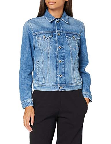 Pepe Jeans Rose Jacket Chaqueta Vaquera, Azul (Denim 000), X-Large para Mujer