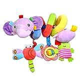 Comius Sharp Spirale Bett Kinderwagen Spielzeug, Mobile Baby Kinder Twisty Spirale Cartoon Spielzeug Geschenke,Kleinkind Baby Aktivität pädagogische Plüschtier Plüschtier. (Elefant)