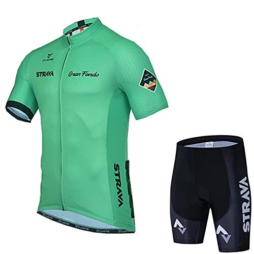 AUGYM Jersey de Ciclismo, Adecuado para Ciclismo de Carretera y Grava,C3,XL
