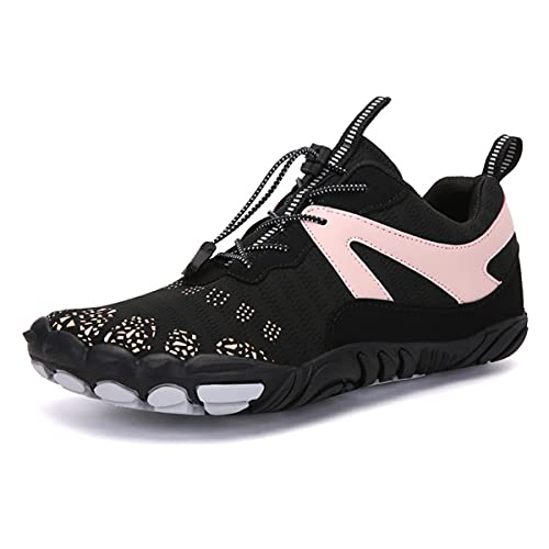 [ローローLuoLuo] マリンシューズ ウォーターシューズ フィットネスシューズ メンズ ベアフット 超軽量 通気性 沢登り 磯靴 釣り 靴 滑り止め クライミング アウトドアシューズ ジム 室内 運動靴 ピンク 26.5
