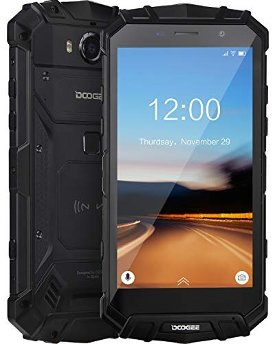 Robuster Outdoor Handy Entsperrt DOOGEE S60 Lite Wasserdicht Smartphone 4G 4GB+ 32GB Dual SIM Freie Android 8.1 Mobil Telefon 5,2 Zoll FHD Handy Kameras 16+ 8MP 5580mAh/NFC/Gesicht ID/GPS (Schwarz)