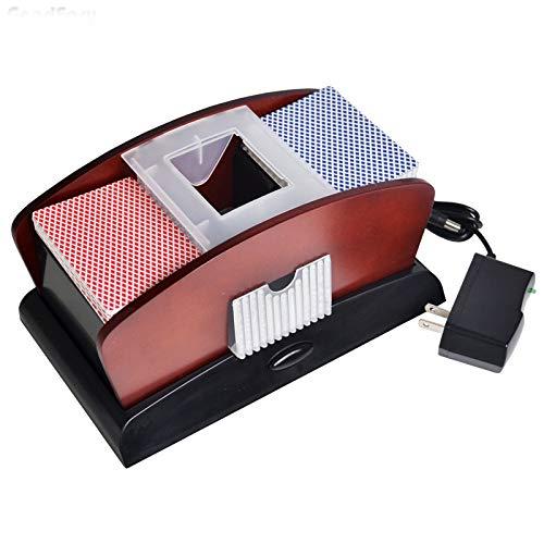 Deluxe 2 Deck Holz CARD SHUFFLER Doppelnutzung Perfekt für Shuffling einer oder zwei Deck von Karten Automatische Maschine Poker-Kartenmischer