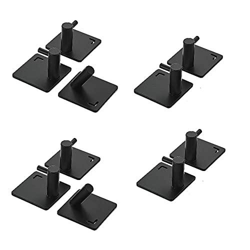 10pcs Alloy Alloy Libre Perforando y Fácil instalación Negro Plata Pintura Multifuncional Multifuncional Abrigo de pared de pared-C5 simple y elegante combina con el estilo moderno