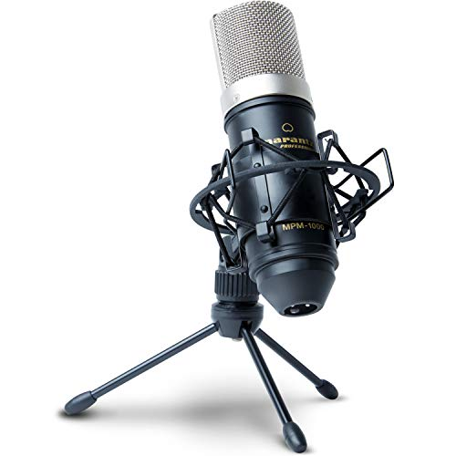 Marantz Professional MPM1000 Large Diaphragm Condenser Microphone with Windscreen, Shockmount, Tripod Stand and XLR Cable