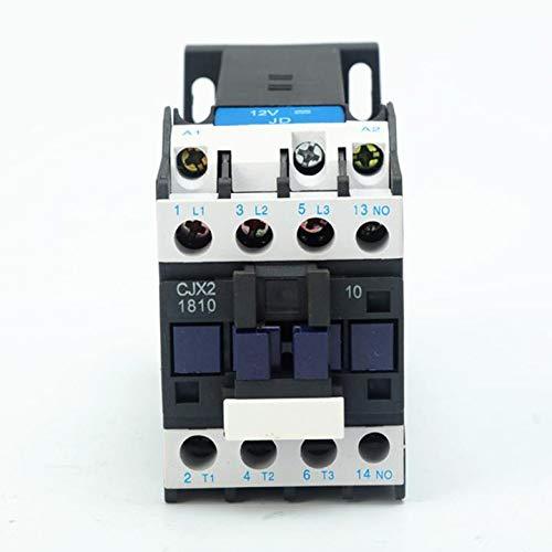 ETial CJX2-1810-DC DC Contactor eléctrico de distribución 24V 50Hz Bobina 18A Trifásico Tripolar 1NO