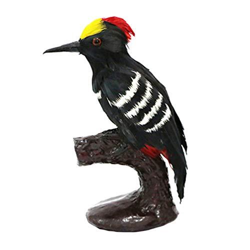 BESPORTBLE Kunstvogel beeldje veren specht model tuin specht vogel decoratie ornamenten voor school kantoor