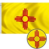 GORISE New Mexico State Flag Embroidered 3x5 ft American Flags for Outdoor Decor, NM State Flags for Patio,Lawn&Garden Decor (New Mexico Flag 3x5)