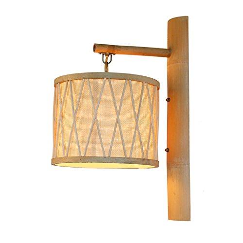 CKH wandlamp voor Zuidoost-Azië, eenvoudige tuin, bamboe, restaurant, Japans, Zen, Allee, rotan, bamboe, wandlamp