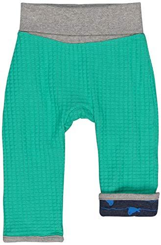 loud + proud Jungen Wendehose Strick Aus Bio Baumwolle, GOTS Zertifiziert Hose, Grün (Jade Jad), 80 (Herstellergröße: 74/80)