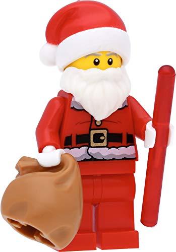 LEGO Minifigur Santa Claus (bedruckter Rücken) / Nikolaus / Weihnachtsmann mit Zubehör