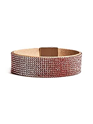 GUESS Factory Women's Pink Ombre Magnetic Cuff Bracelet